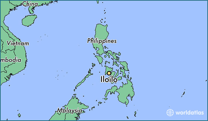 map showing the location of Iloilo