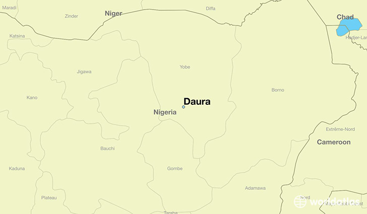 map showing the location of Daura