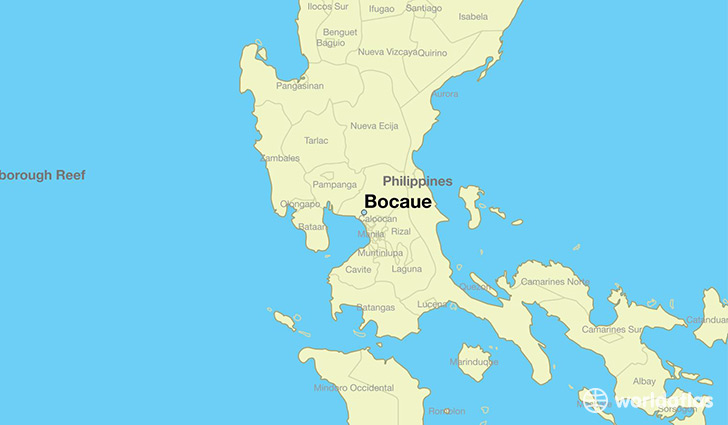 map showing the location of Bocaue