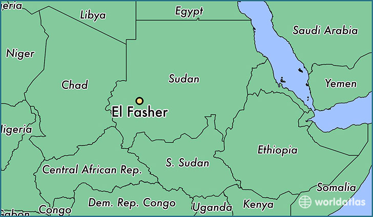 map showing the location of El Fasher