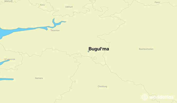 map showing the location of Bugul'ma