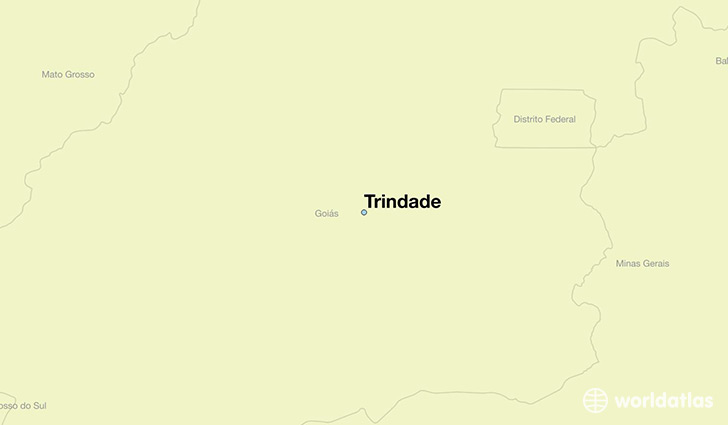 map showing the location of Trindade