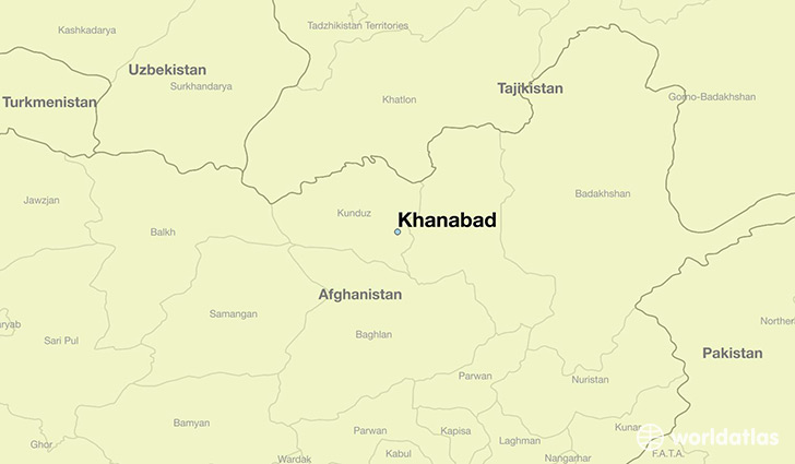 map showing the location of Khanabad