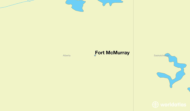 map showing the location of Fort McMurray