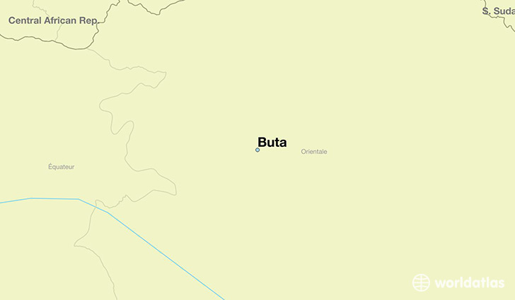 map showing the location of Buta