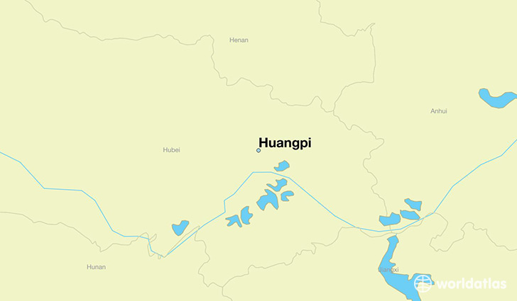map showing the location of Huangpi