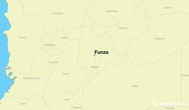map showing the location of Funza