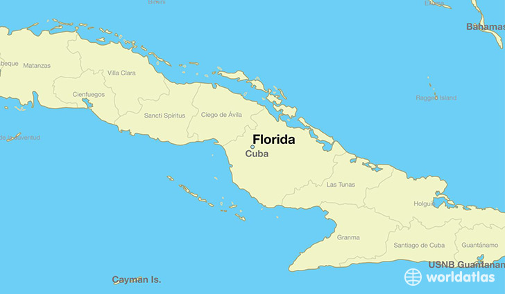 map showing the location of Florida