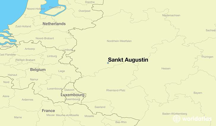 map showing the location of Sankt Augustin