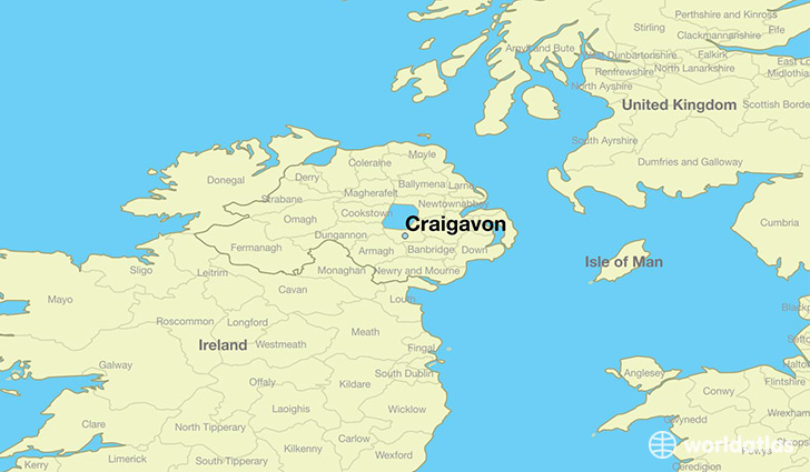 Ireland And Northern Ireland Map.Where Is Craigavon Northern Ireland Craigavon Northern Ireland