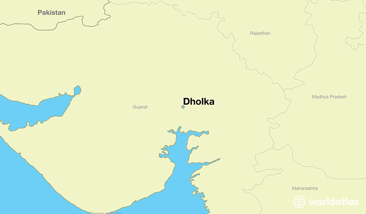map showing the location of Dholka