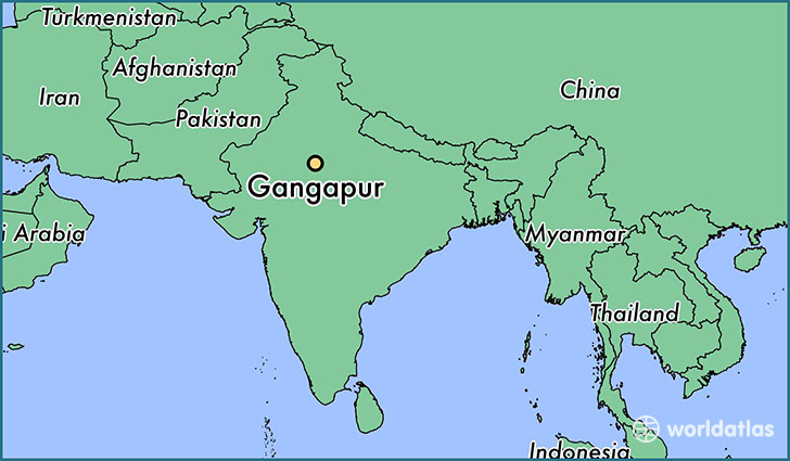 map showing the location of Gangapur