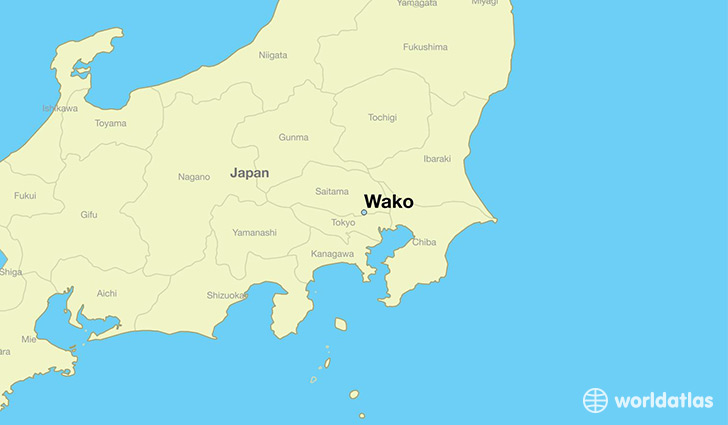 map showing the location of Wako