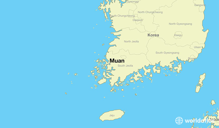 map showing the location of Muan