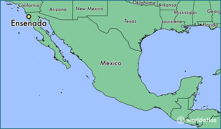 Map Of California Mexico.Where Is Ensenada Mexico Ensenada Baja California Map