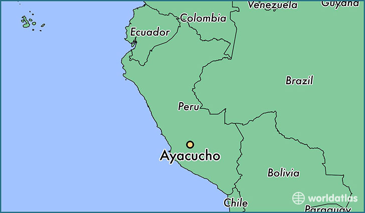 map showing the location of Ayacucho