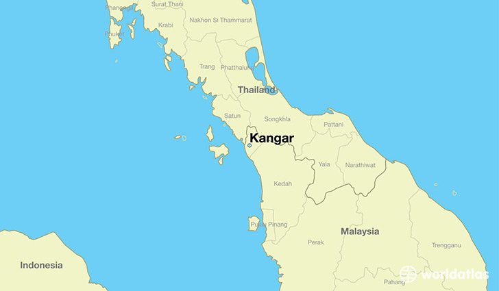 map showing the location of Kangar