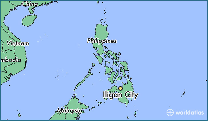 map showing the location of Iligan City