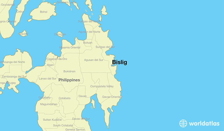 map showing the location of Bislig