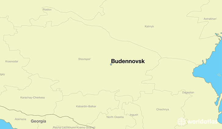 map showing the location of Budennovsk