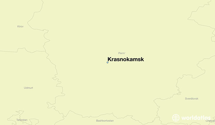map showing the location of Krasnokamsk