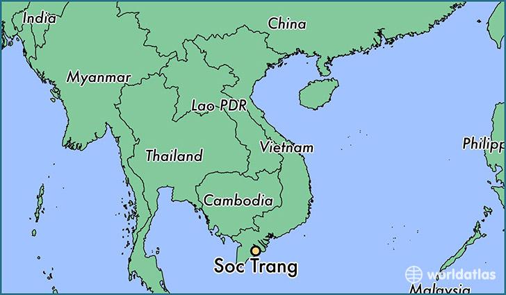 Where Is Soc Trang Viet Nam Soc Trang Soc Trang Map - Longitude and latitude of vietnam