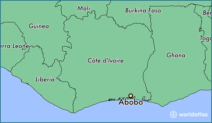 map showing the location of Abobo