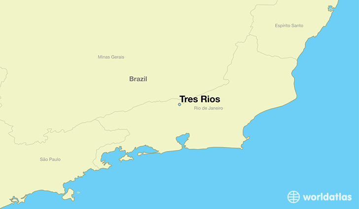 map showing the location of Tres Rios
