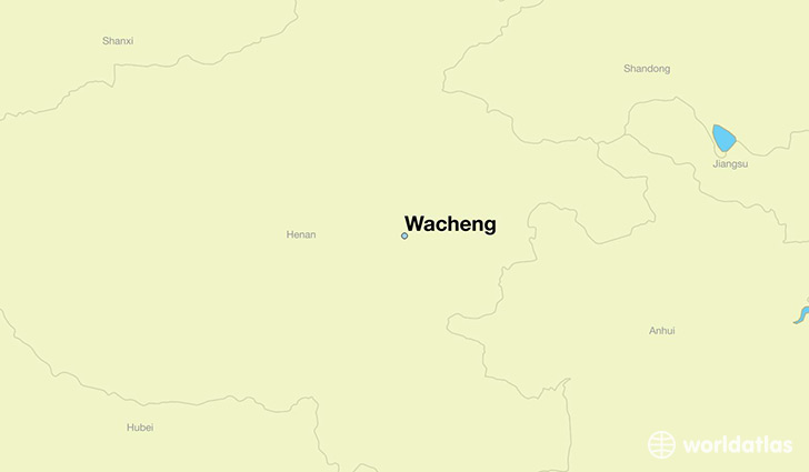 map showing the location of Wacheng