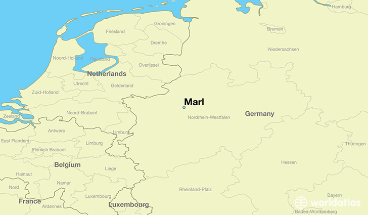 map showing the location of Marl