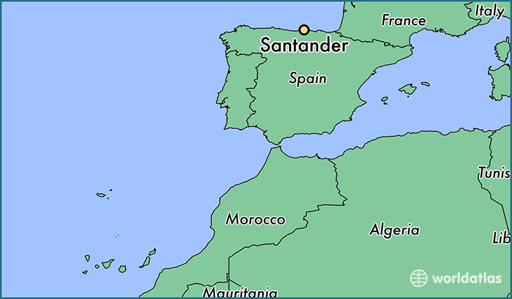 Where is Santander Spain Santander Cantabria Map WorldAtlascom