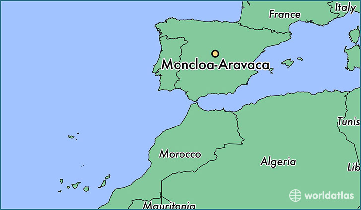 map showing the location of Moncloa-Aravaca