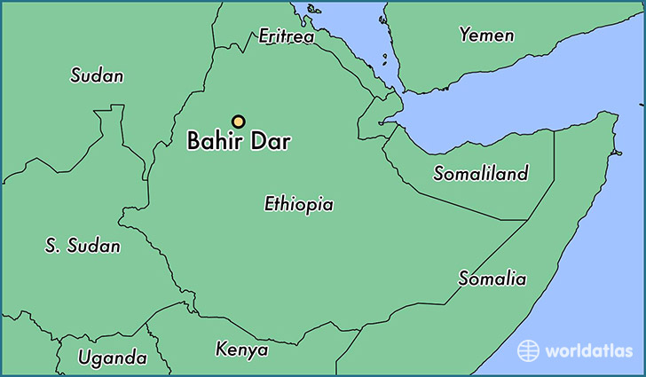 map showing the location of Bahir Dar