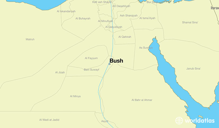 map showing the location of Bush