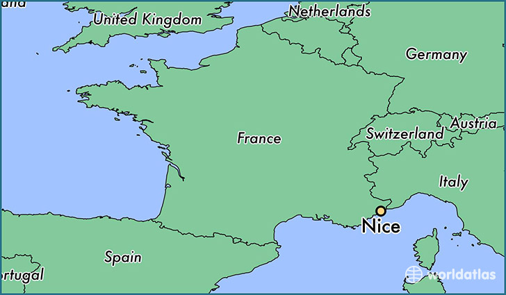 Where is Nice France Nice ProvenceAlpesCotedAzur Map
