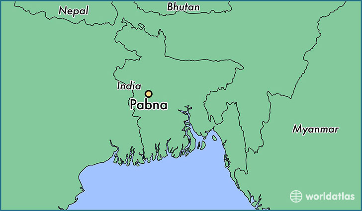 map showing the location of Pabna