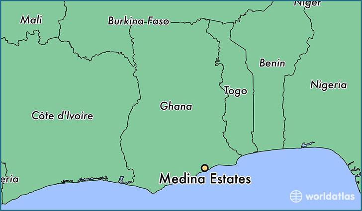 Where is Medina Estates, Ghana? / Medina Estates, Greater Accra Map ...