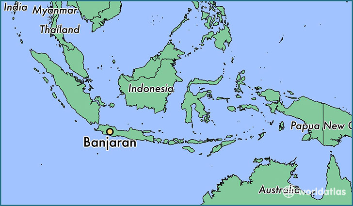 map showing the location of Banjaran