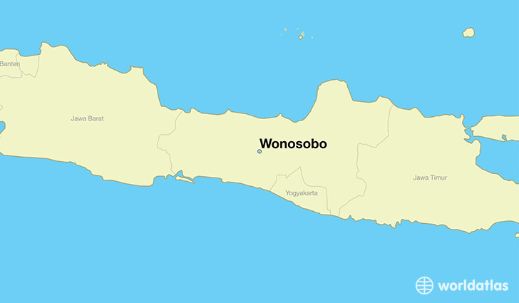 map showing the location of Wonosobo