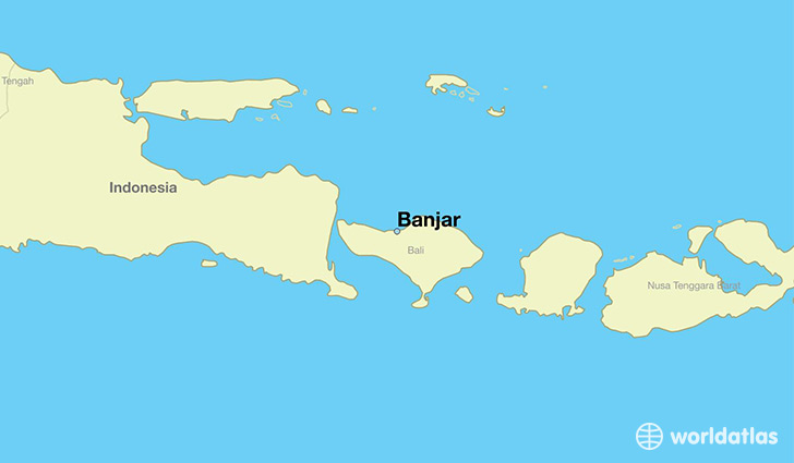 Where is banjar indonesia banjar bali map worldatlas map showing the location of banjar gumiabroncs Image collections