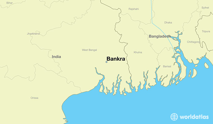 map showing the location of Bankra