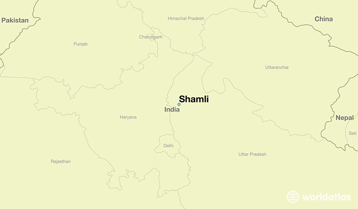 map showing the location of Shamli
