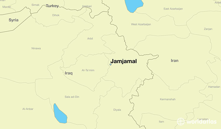 map showing the location of Jamjamal