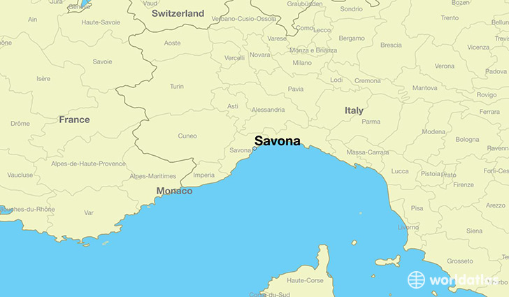 Where is Savona Italy Savona Liguria Map WorldAtlascom
