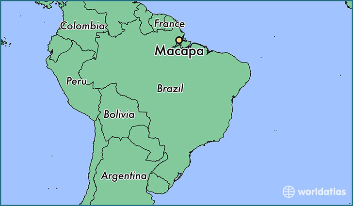 map showing the location of Macapa
