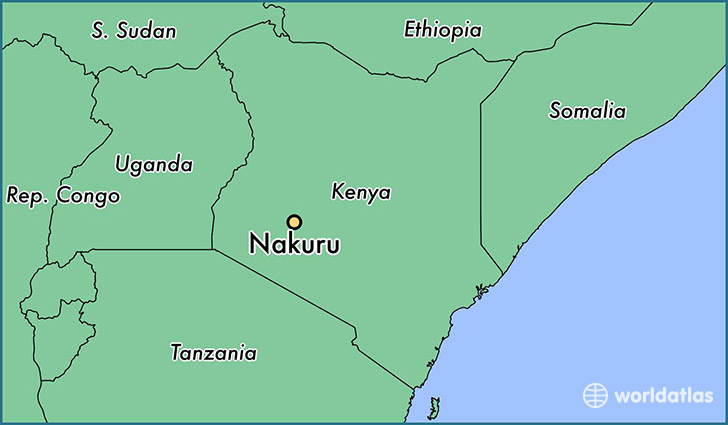 map showing the location of Nakuru