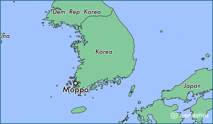 map showing the location of Moppo
