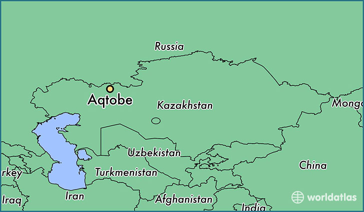 map showing the location of Aqtobe
