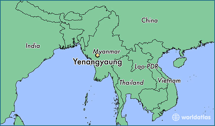 map showing the location of Yenangyaung