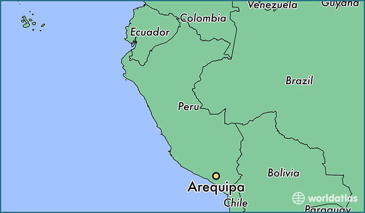 map showing the location of Arequipa